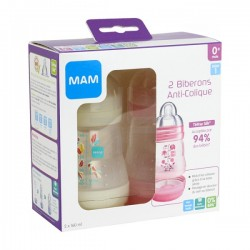 BIB A-C 160 ML ROSE + BLANC MAM 5123322