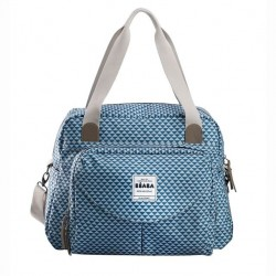 SAC GENEVE 2 PLAY PRINT BLUE BEABA 940199