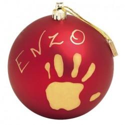 CHRISTMAS BALL ROUGE BTL 34120153