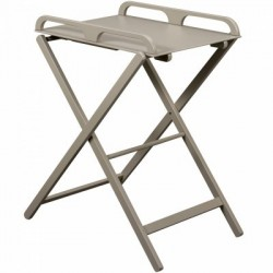 TABLE A LANGER PLIANTE LAQUE GRIS CLAIR 112000