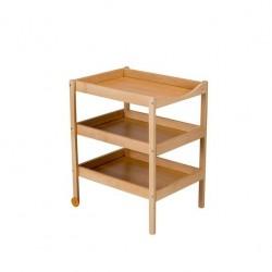 TABLE A LANGER SUSIE 3 PLATEAUX VERNIS NATUREL 013000