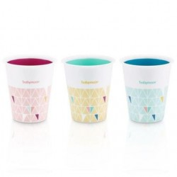 LOT DE 3 GOBELETS MULTICOLORS BABYMOOV A005006