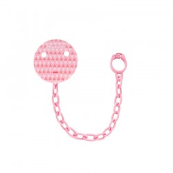ATTACHE SUCETTE PINK TRIANGLE BADABULLE B011407