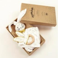 BOX DOUDOU + ANNEAU DENTITION LEAFY BUNNY 1200249
