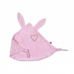 DOUDOU LAPIN COEUR BLUSH POIS OR DDL03 BBANDCO